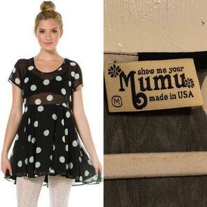 Show Me Your Mumu Polka Dot Boyd Baby Doll Dress M